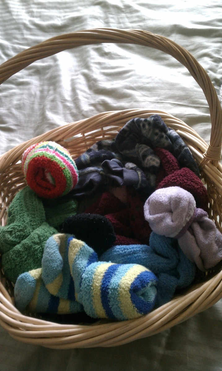 fuzzy socks