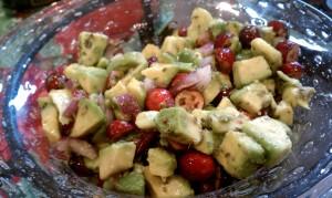 Cranberry Avocado Salsa - Closeup