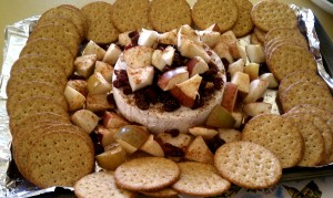 Cranberry Cinnamon Apple Brie with Crackers