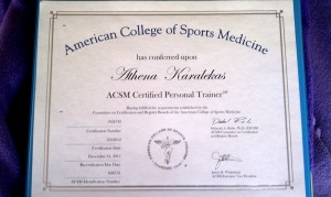 ACSM Personal Trainer Certificate
