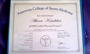 ACSM Personal Trainer Certificate