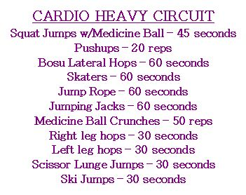 Cardio Heavy Circuit Workout