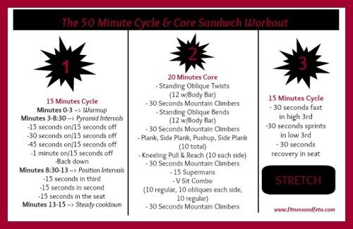 Cycle & Core Sandwich Workout