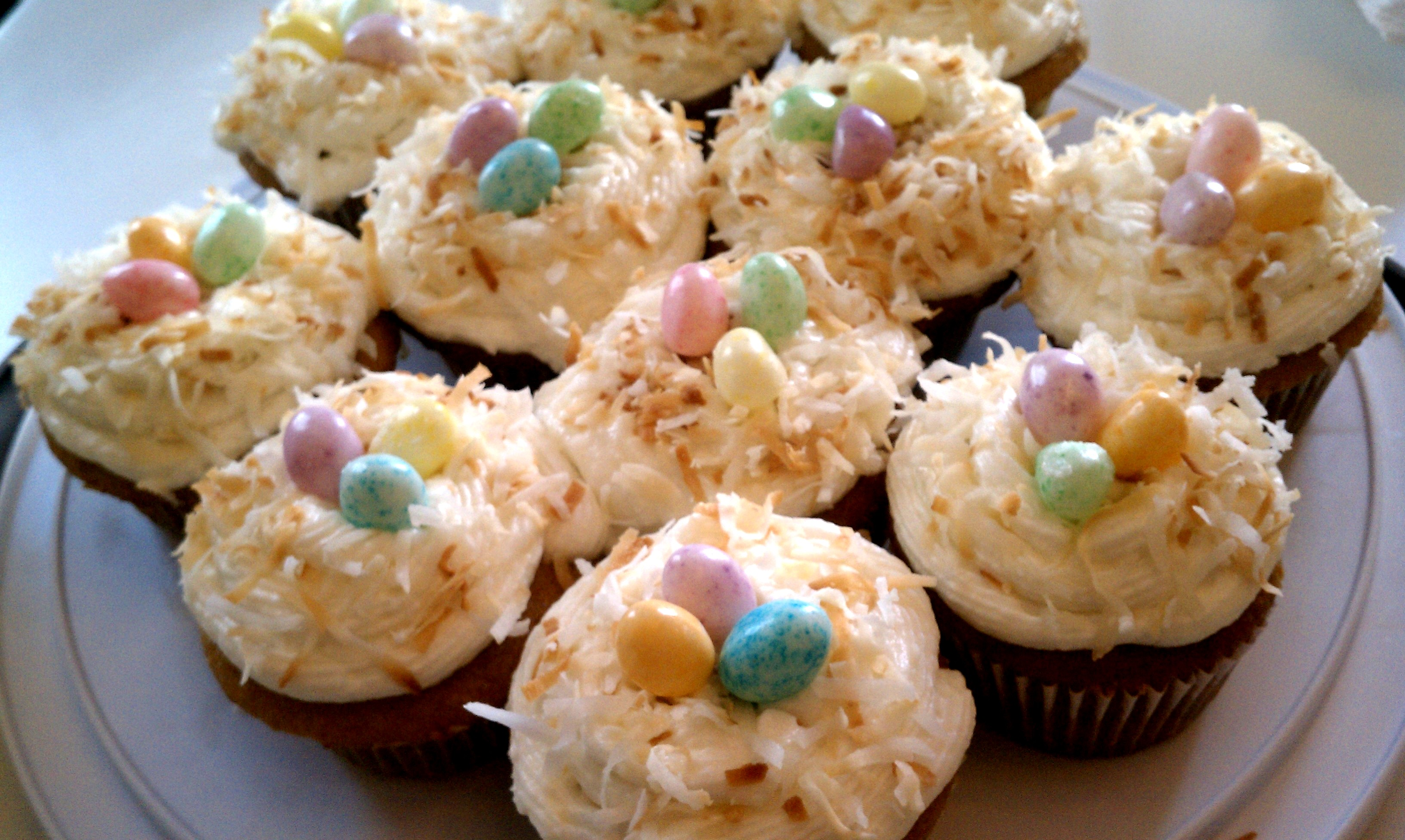 A Fun Easter Treat: Coconut Nest Cupcakes | Fitness & Feta