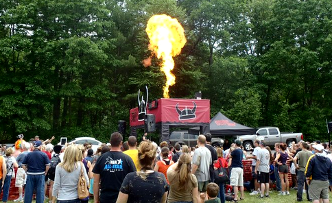 Warrior Dash:  Fire at Start Line