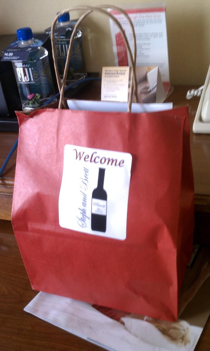 Steph & Brett's Wedding:  Gift Bag
