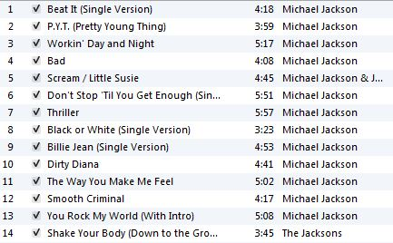 Michael Jackson Tribute Workout Playlist