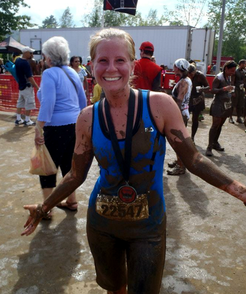 Warrior Dash:  Muddy at the end