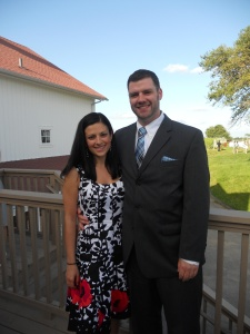 Steph & Brett's Wedding:  Me & Tim