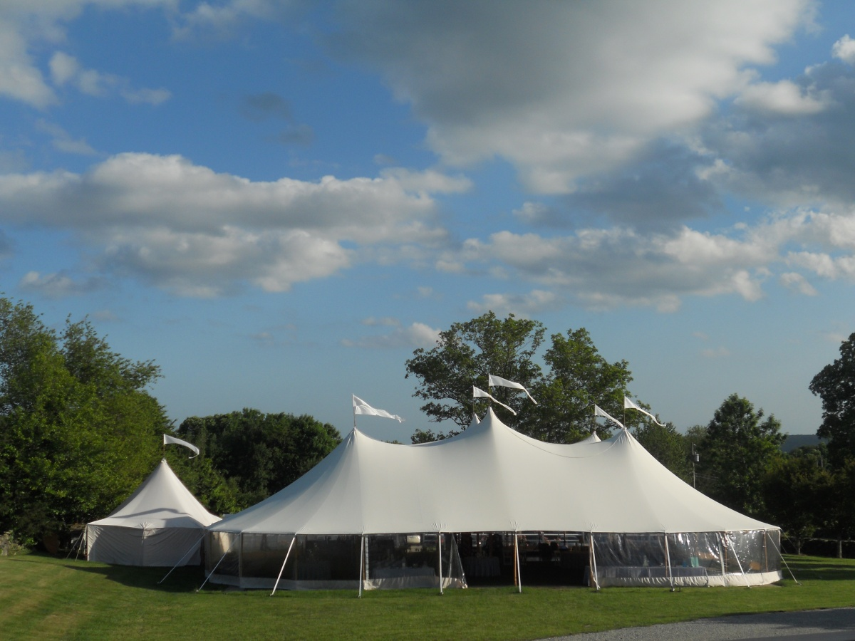 Steph & Brett's Wedding:  Tent
