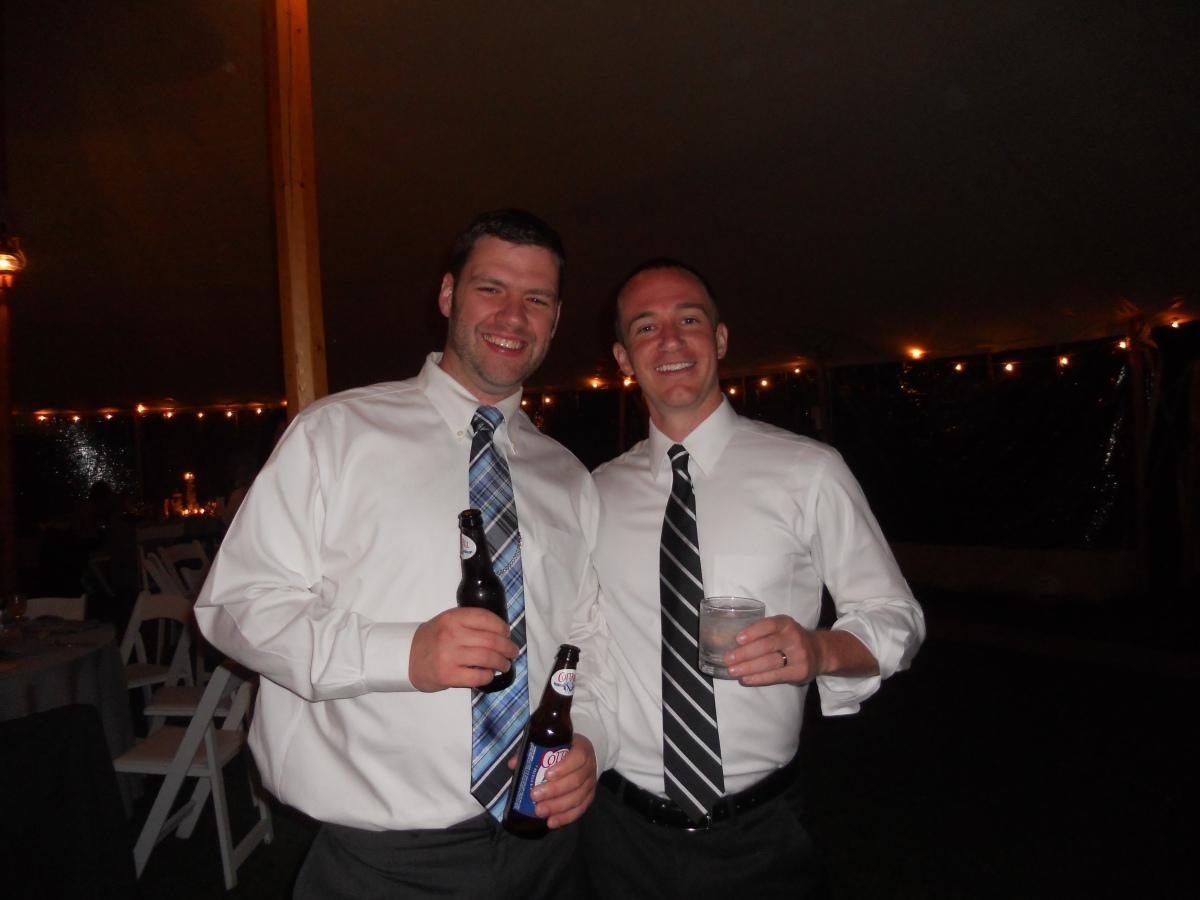Steph & Brett's Wedding:  Tim & the Groom