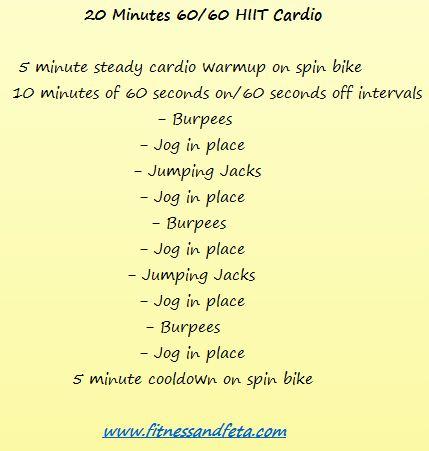 20 minutes 60-60 HIIT Cardio