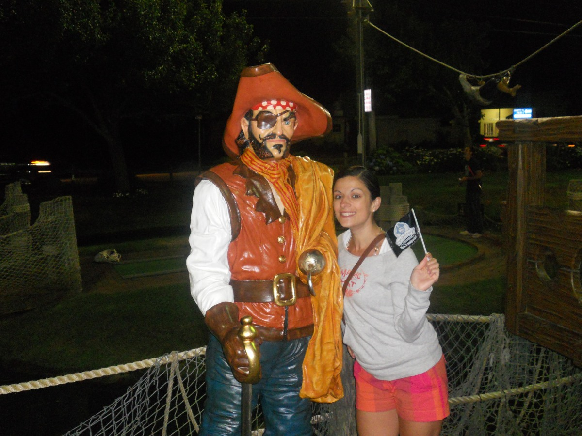 Cape Cod Vacation 2012:  Pirate's Cove Mini Golf