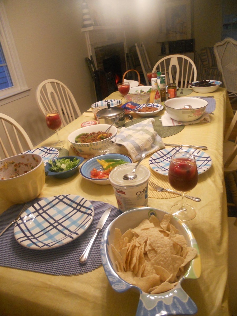 Cape Cod Vacation 2012:  Taco Night