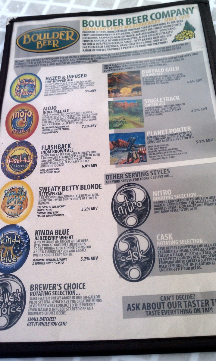 Boulder Brewing Company Beer List