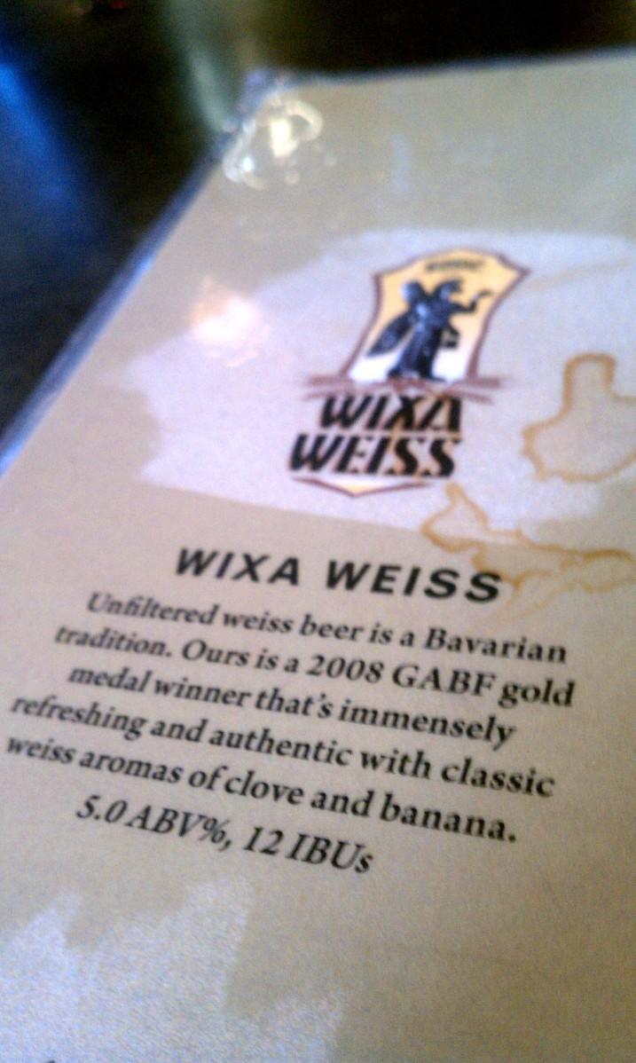 Denver - Wynkoop Brewery Wixa Weiss