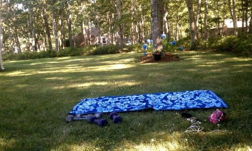 Cape Vacation 2012:  Backyard Workouts
