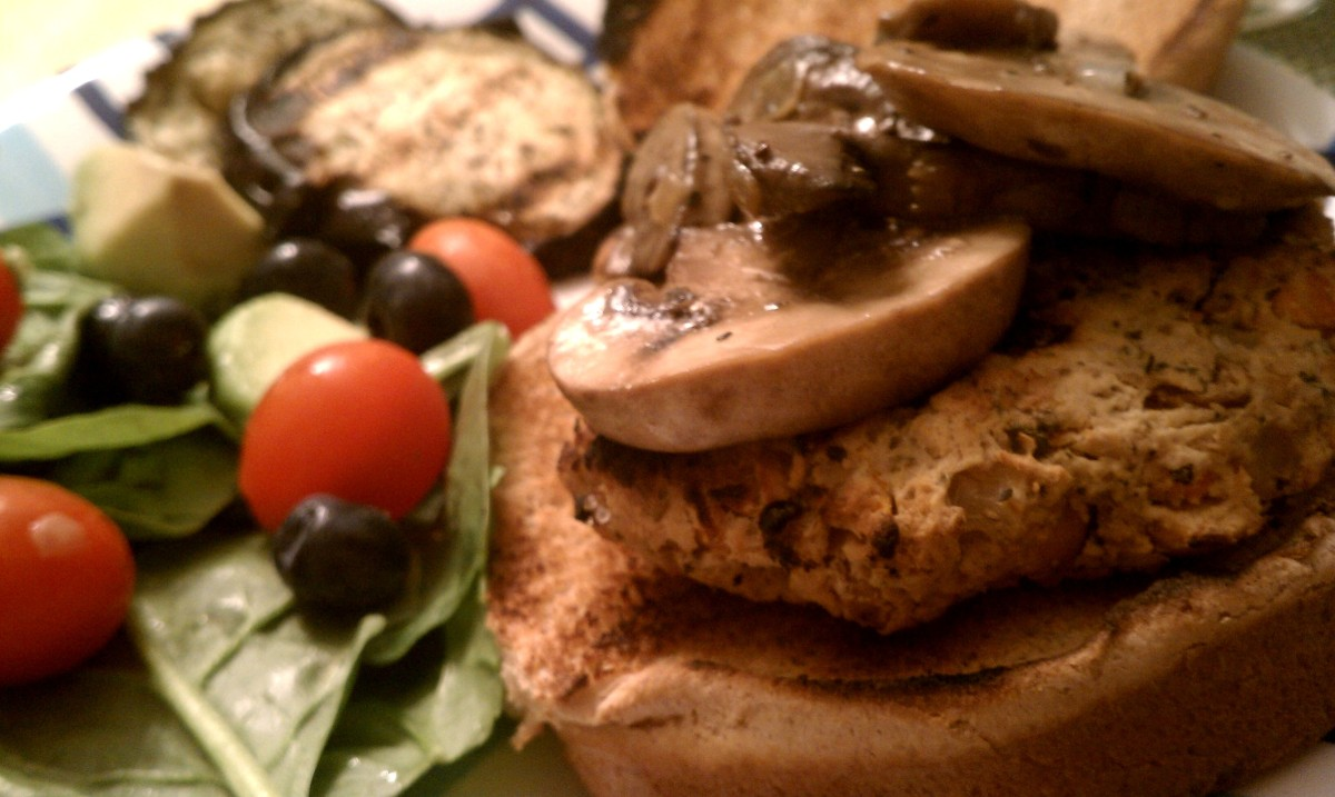 Grilled Chickpea Burgers
