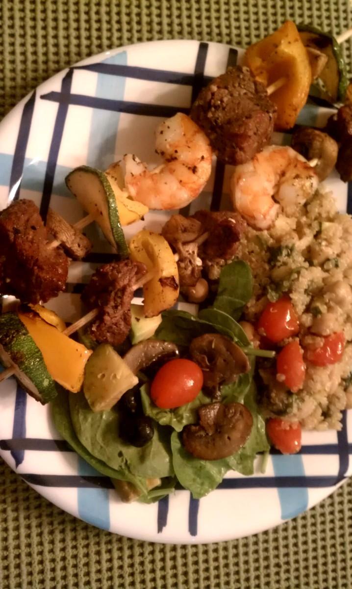 Shrimp and Steak Skewers