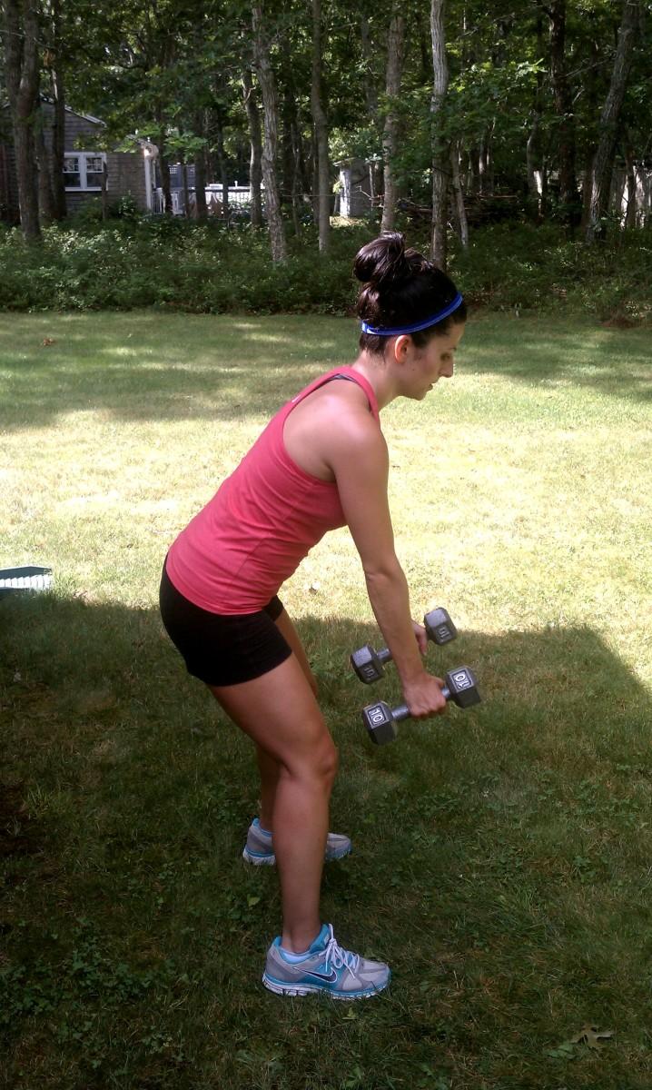 Row to Triceps Kickback