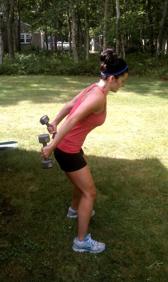 Row + Triceps Kickback