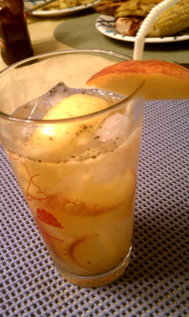 Nectarine Basil Vodka Collins