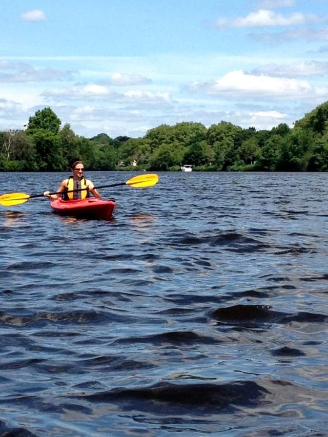Kayaking on the Charles River