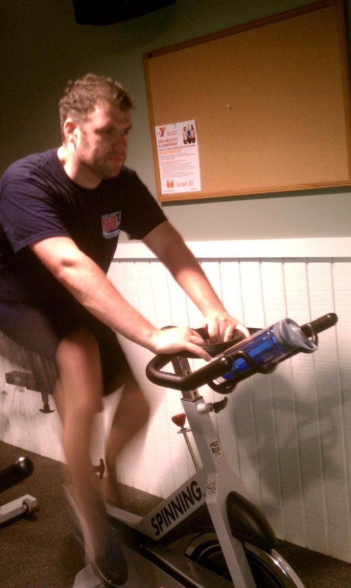Tim in Spin Class
