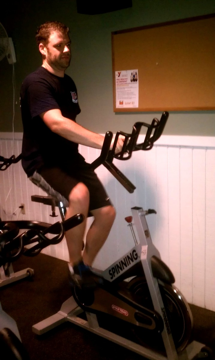 Tim in Spin Class