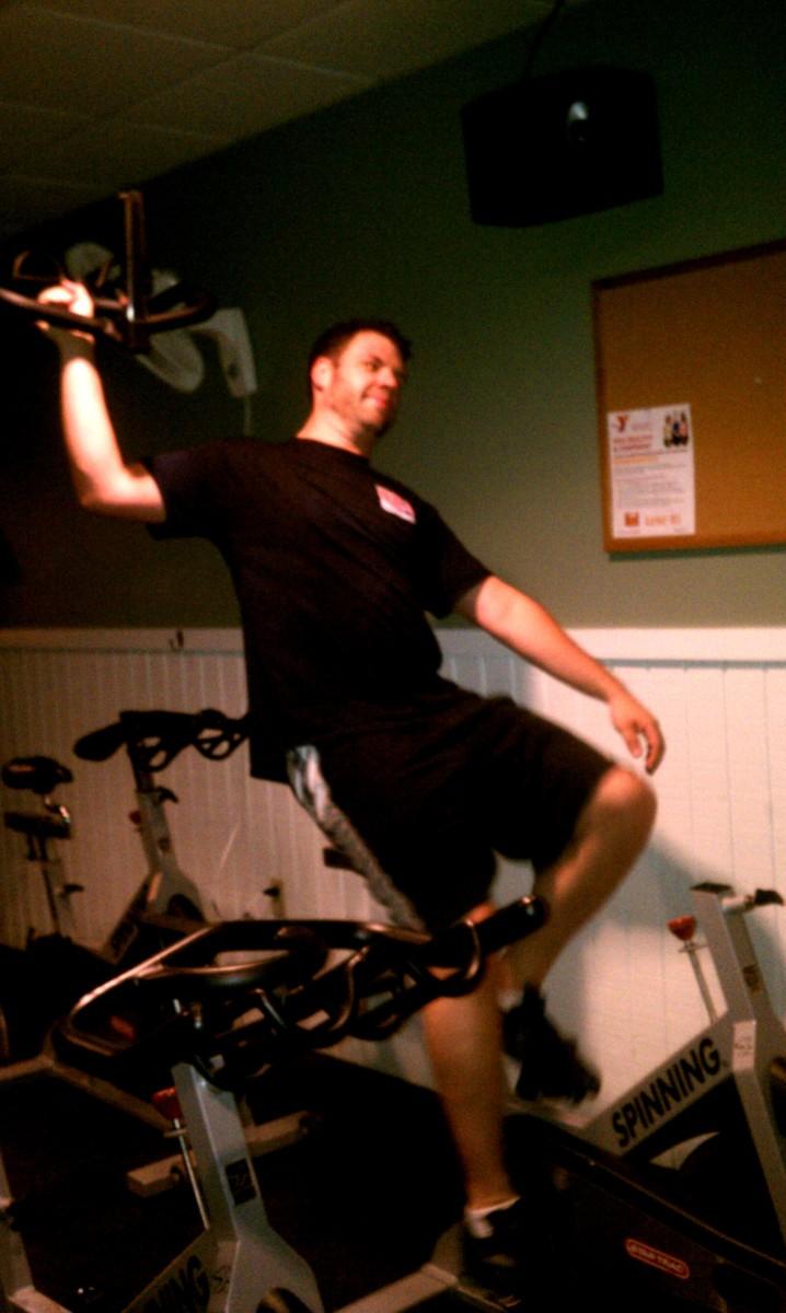 Tim on Spin Bike