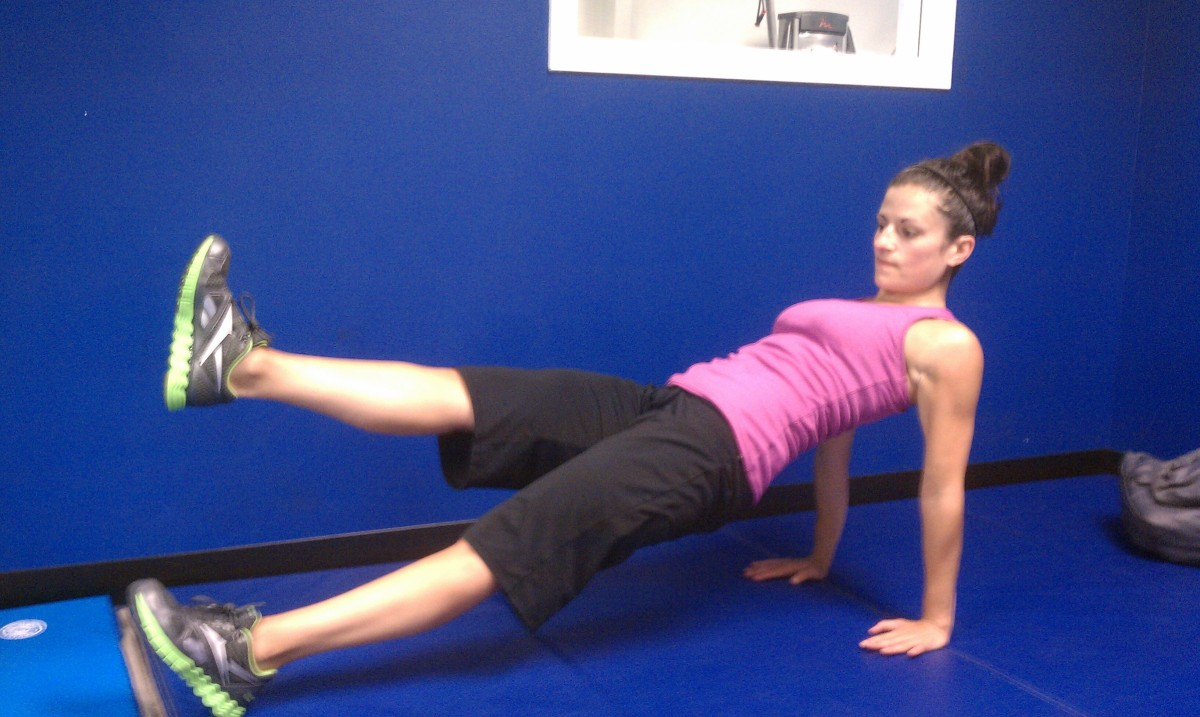 Reverse Plank with Leg Lift