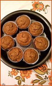 Pumpkin Pecan Muffins on Plate