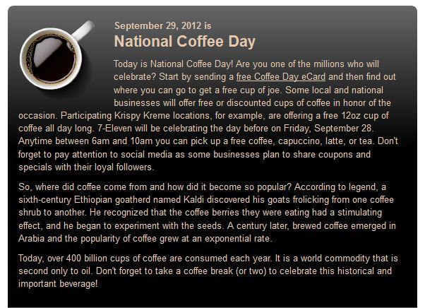 national coffee day - photo #34