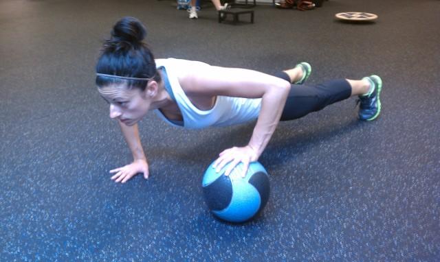 Move of the Week:  Alternating Medicine Ball Pushups