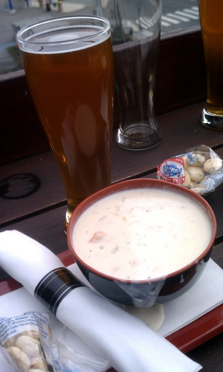 Beer & Clam Chowder at Legal Harborside