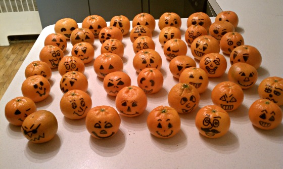 Healthy Halloween Treat:  Pumpkintines