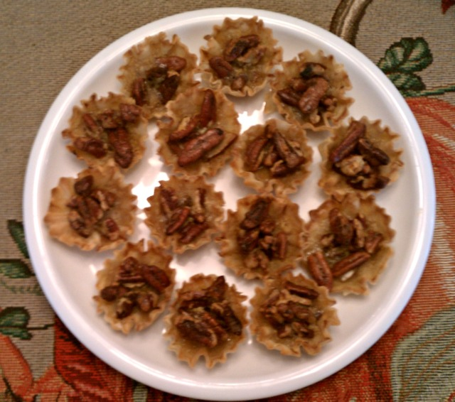 Mini Pecan Pie Phyllo Tarts