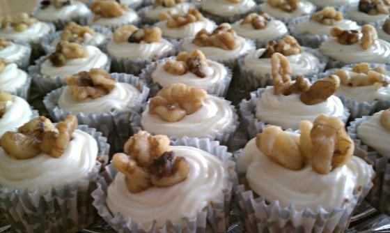 Mini Maple Walnut Cupcake