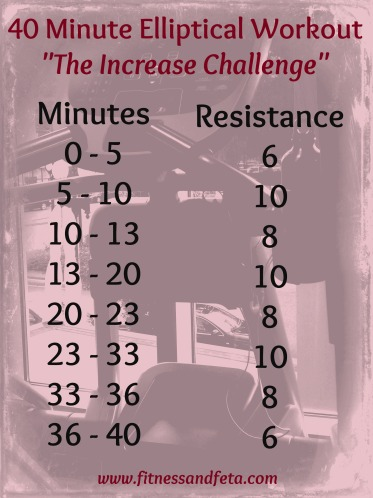 40 Minute Elliptical Increase Challenge