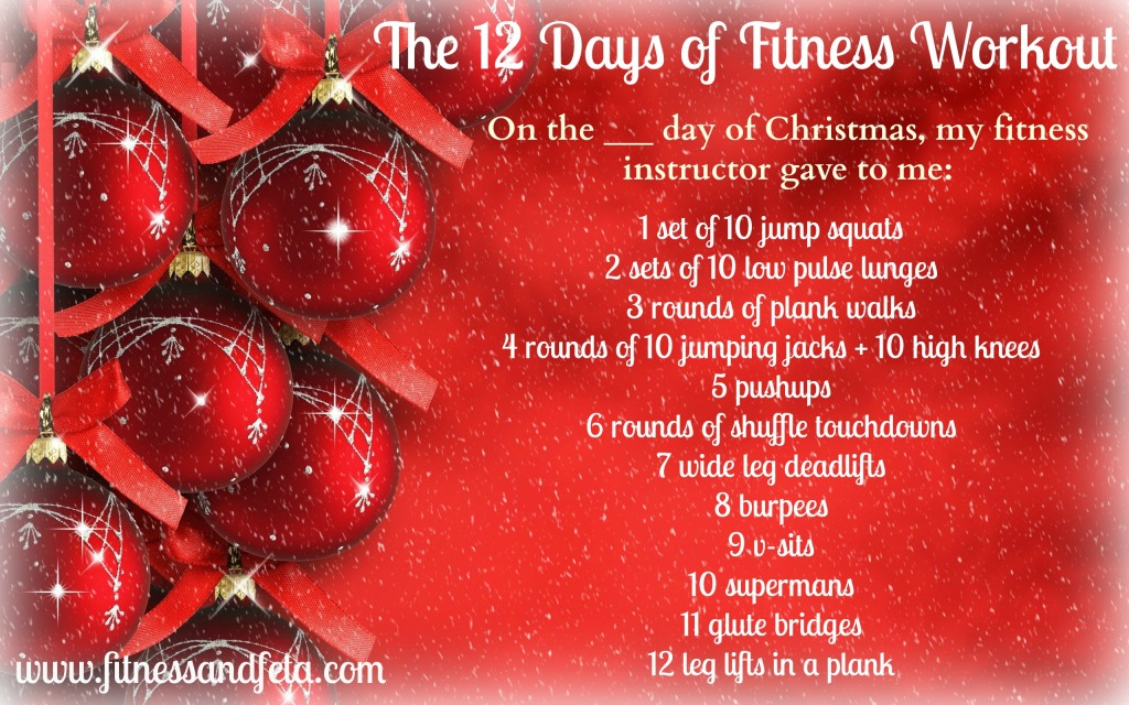 12 days of fitness workout