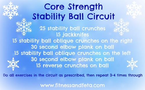 Core Strength Stability Ball Circuit