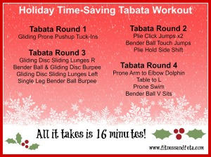 holiday time saving tabata workout
