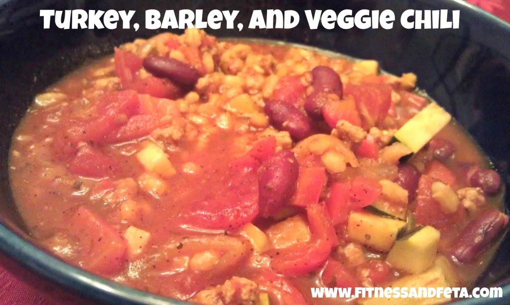 Turkey, Barley, and Veggie Chili