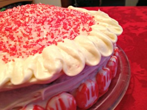 Red Velvet Cake with Peppermint Frosting