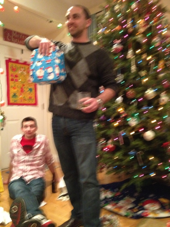 home friends christmas party johnny