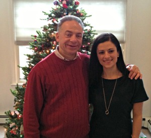 Christmas Day 2012:  Me & Dad