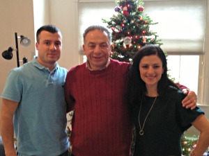 Christmas Day 2012:  Dad, Tony, Me