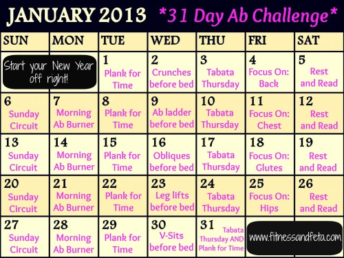 January 2013 31 Day Ab Challenge