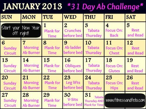 January 2013 31 Day Ab Challenge