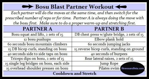 bosu blast partner workout